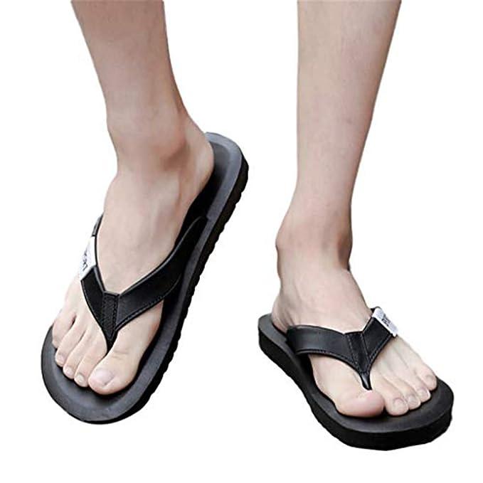 Xinantime Summer Mens Non-Slip Flip Flops Sandals Shoes Slippers for Beach Shower Lightweight Comfort Sandals