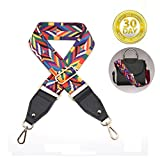 MINA LOBATA 2'' Wide Purse Strap Replacement Bohemia National Style Multicolor 31''- 48'' Crossbody Strap for Handbags