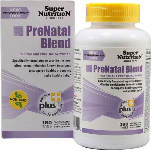 Super Nutrition PreNatal Blend -- 180 Tabs - 3PC (Super Prenatal Nutrition)