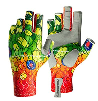 96ADRB2-SM/MD Fincognito Rainbow #2 Trout Sun Gloves -Sm/Md from Cognito Brands, Inc.