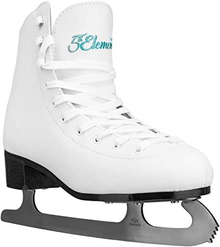 5th Element Grace Ice Figure Skates – Cold-Resistant Tricot Liner – True-to-Size Fit – Stainless Steel Toe Pick