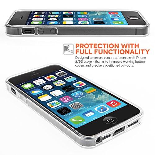 IPhone 5 Silikon Hülle Gel Tasche Klare Transparent: Amazon.de ...