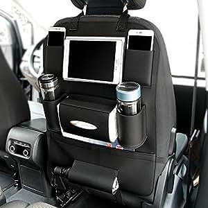 Amazon Com Pu Leather Car Seat Back Organizer Holder