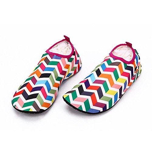 Ftxj Unisex Mannen Vrouwen Kinderen Huid Water Strand Schoenen Barefoot Aqua Sokken Voor Strand Zwembad Zand Zwemmen Surfen Duiken Snorkelen Rood