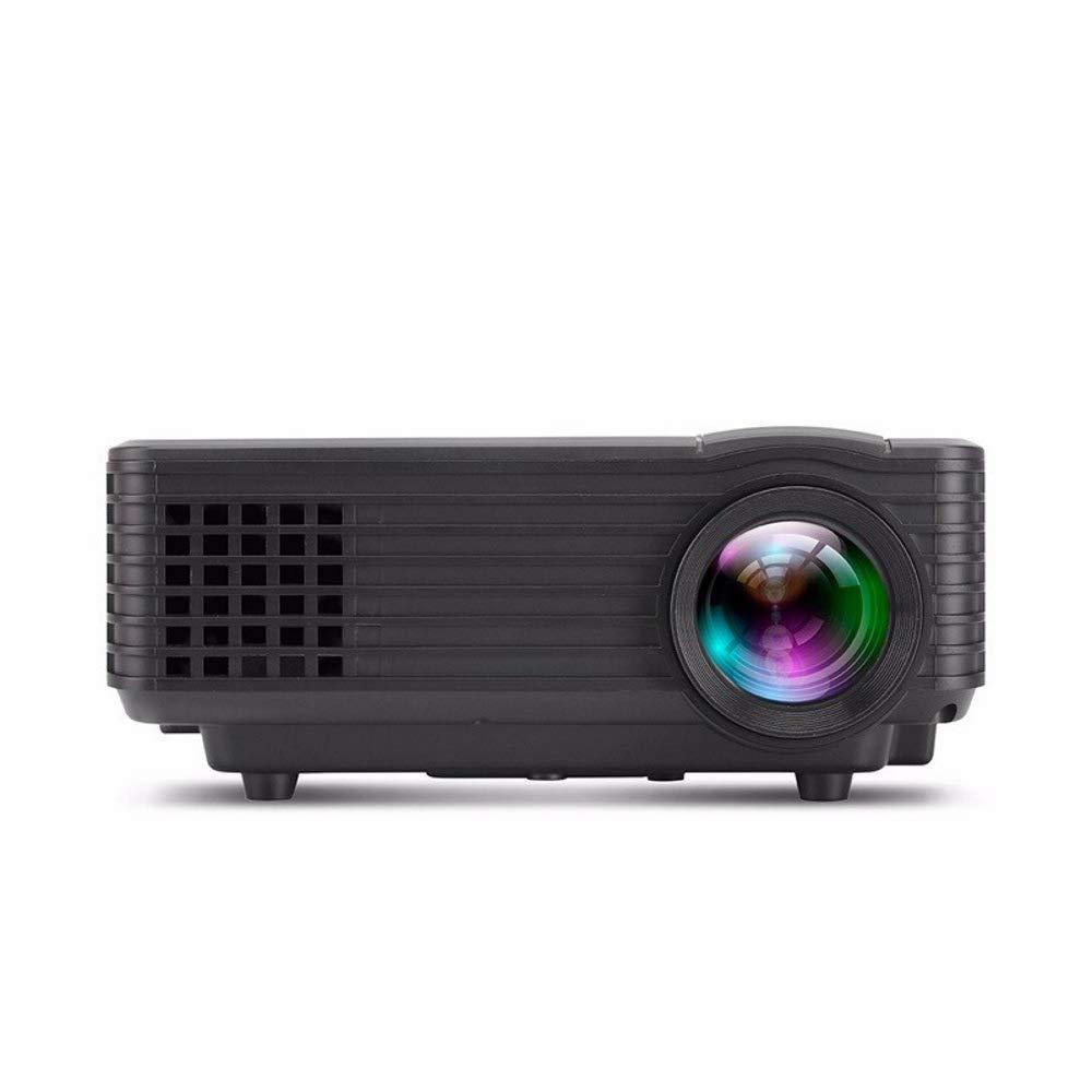 ポータブルプロジェクター、120インチおよび1080P対応ビデオプロジェクター、Fire TVスティック、HDMI、VGA、TF、AVおよびUSBと互換性あり(ホワイト),Black B07RW95HSQ Black