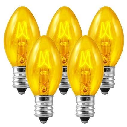 Amazon.com: C7 - Transparent Yellow - Triple Dipped - 5 Watt ...