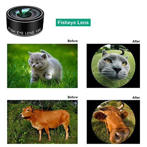 Phone Camera Lens Kit,9 in 1 Kaiess Super Wide Angle+ Macro+ Fisheye Lens +Telephoto+ CPL+Kaleidoscope+Starburst Lens for iPhone X/8/7/6s/6 Plus, Samsung,Android Smartphones(Matte Black) by Kaiess (Image #3)
