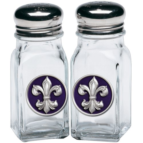 (1pc, Pewter Fleur de Lis #3 Salt & Pepper Shakers)