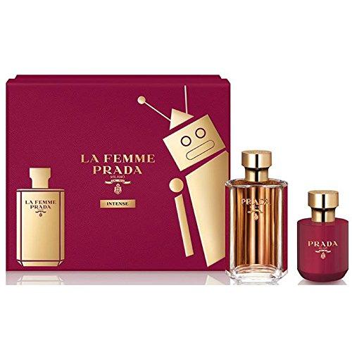 Prada La Femme Intense for Women 2 pieces Hardbox Gift Set (3.4 Oz Eau De Parfum spray/ 3.4 Oz Satin Body -