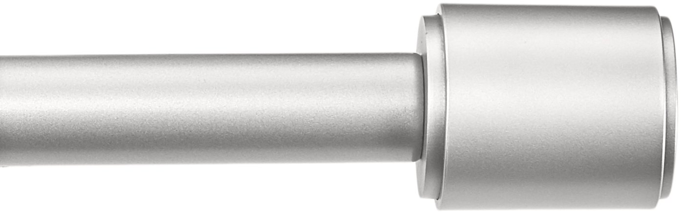 AmazonBasics 1'' Curtain Rod with Cap Finials, 72'' to 144'', Nickel by AmazonBasics