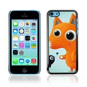 YOYOSHOP [Cute fox & Bird ] Apple iPhone 5C Case