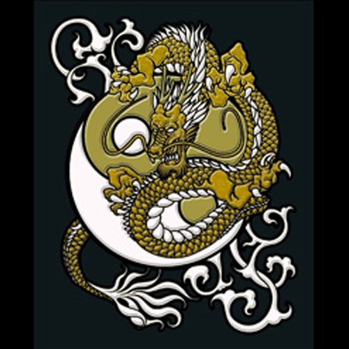 Soul Of Japan Sticker/Decal for Accessories or Decoration-Dragon & Diagram: Gold!!