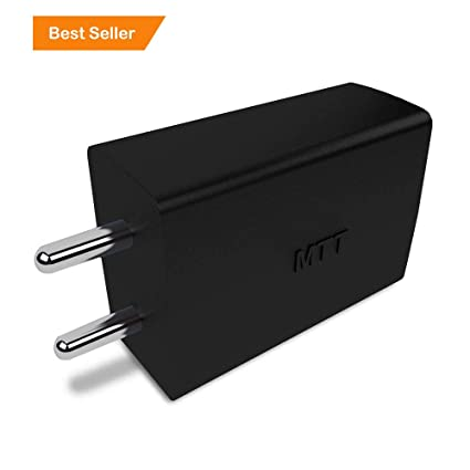 MTT Dual Port 2.1 Ampere USB Charger (Black) Mobile Phone Wall Chargers at amazon