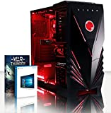 VIBOX Gaming PC - Dominator 15 - 4.2GHz AMD FX 8-Core CPU, GTX 1050 GPU, Advanced, Multimedia, High Performance, Pascal, Desktop Computer with Game Bundle, Windows 10 OS, Red Internal Lighting and Lifetime Warranty* (Super Fast AMD FX 8300 Eight 8-Core CPU Processor, Nvidia GeForce GTX 1050 2GB Graphics Card GPU, 16GB DDR3 1600MHz High Speed RAM Memory, 1TB (1000GB) Sata III 7200rpm Hard Drive HDD, 85+ Rated PSU Power Supply, Vibox Commando Red LED Gaming Case, AM3+ Motherboard)