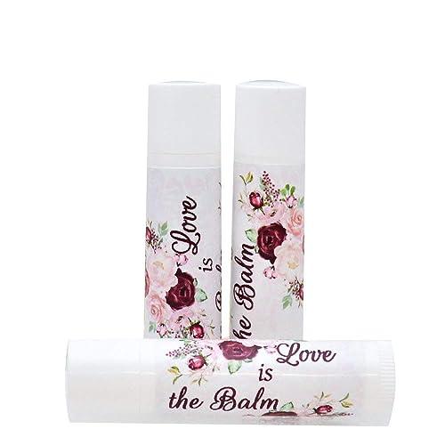 Personalize Chapstick Birthday Favor Labels Chapstick Favor Stickers Baby Shower Chapstick Labels 30 Lip Balm Labels