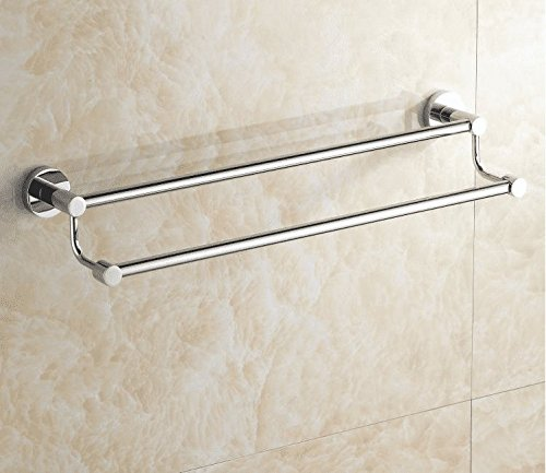 LHbox Tap Bathrooms, Extension, Towel Bar, Double Bar, A Wall-Mounted,71Cm