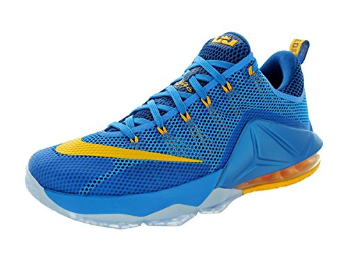 Nike Mens Lebron XII Low Basketball Shoe, Photo Blue/Unvrsty Gold/Gym Bl, 45.5 D(M) EU/10.5 D(M) UK