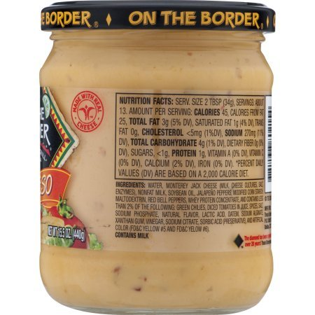 Amazon.com: PACK OF 10 - On The Border Mexican Grill & Cantina Salsa Con Queso, 15.5 oz