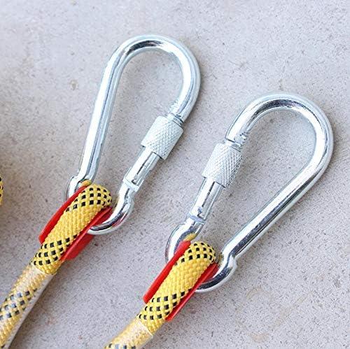 ロープ、20mm の屋外の登山ロープ、パラシュートの静的な屋内ロープ、安全懸垂下降ロープの火の脱出ロープ,Yellow,30m