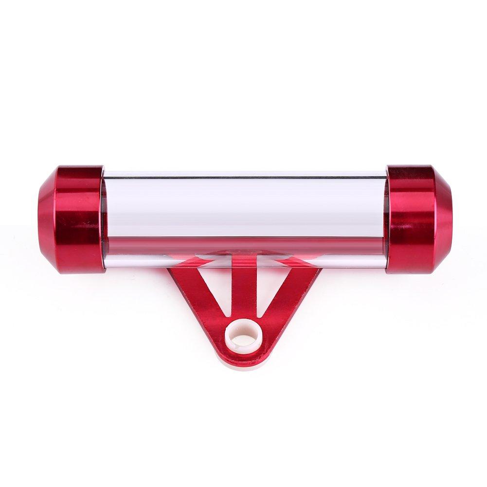 plata Qiilu Universal Motocicleta Moto Asegure el tubo de disco fiscal Cylindrical Holder Frame Impermeable