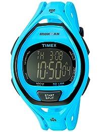 Timex Unisex TW5M01900 Ironman Sleek 50 Full-Size Neon Blue Resin Strap Watch