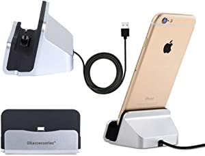 ZUMECA iPhone Charger Dock,Desktop Charger Station,Charging Stand Cradle Lightning Magneti Dock Base Fast Charging for iPhone X 8 7 7 Plus 6 6S Series