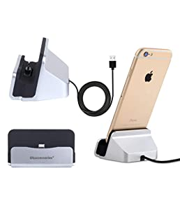 ZUMECA iPhone Charger Dock ,Desktop Charger Station,Charging Stand Cradle Lightning Magneti Dock Base Fast Charging for iPhone X 8 7 7 Plus 6 6S Series