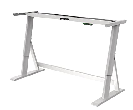 Terrific Vivistand Duo Electric Standing Desk Height Adjustable Legs And Frame Kit White For 60 Long Desk Tops Home Remodeling Inspirations Propsscottssportslandcom