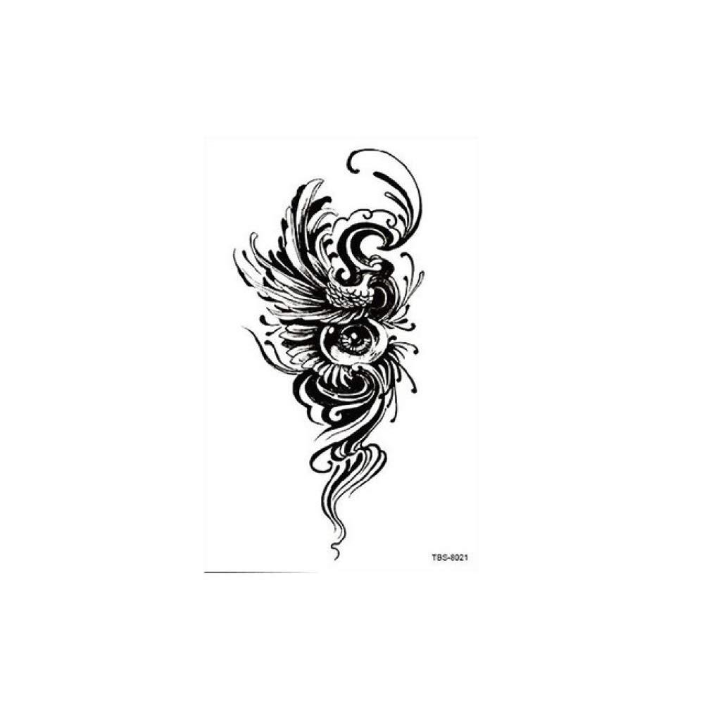 7pcs Tatuaje Tatuaje metálico de plata & amp; Fuego impermeable ...