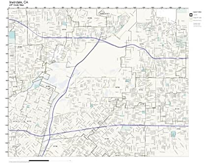 Irwindale California Map.Amazon Com Zip Code Wall Map Of Irwindale Ca Zip Code Map