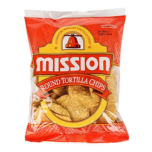 Mission Foods White Round Tortilla Chips, 3 Ounce (Pack of 48)