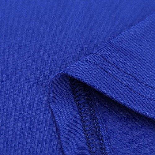 Shirt T paule Femmes Manches Strappy Courtes Bleu Jaminy Blouses d't Hauts Froide 801wx6SX