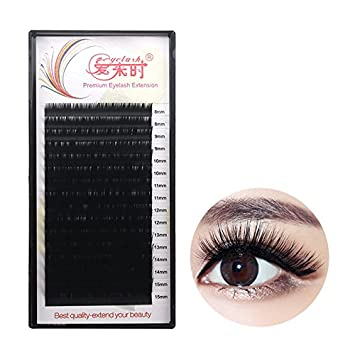 be333adbea7 Amazon.com : THINKSHOW Eyelash Extensions 0.12mm C/D 4 Trays Curl 8 ...
