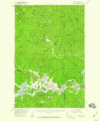 YellowMaps Kingston ID topo map, 1:62500 Scale, 15 X 15 Minute, Historical, 1957, Updated 1959, 20.7 x 17 in - Paper