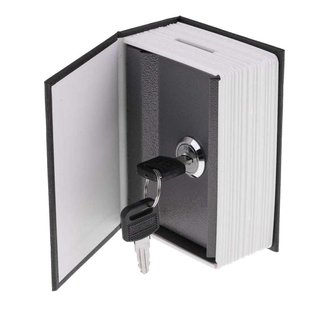 Rojo Hellery Caja Fuerte con Forma de Libro con Cierre Antirrobo de Contrase/ña para Gurdar Dinero