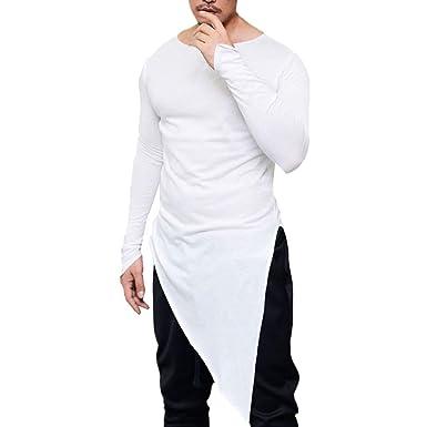 Manches Shirt T Longues à Unie Couleur BaoDan Rond Ourlet Col PErqdyrHg