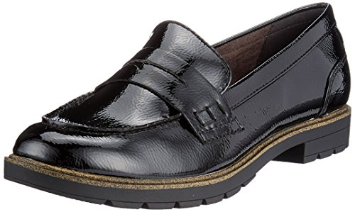 018 Tamaris 24660 Women's Black Patent Shoes Black Boat rzUHr