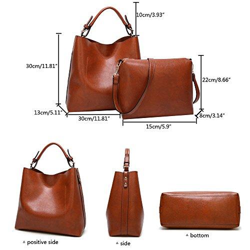 Anne - Bolso de mano Mujer, color marrón, talla M