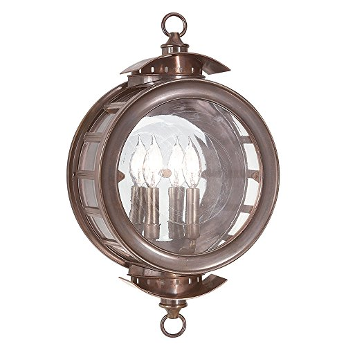 - Troy Lighting Charleston 2-Light Outdoor Wall Lantern - Heritage Bronze Finish with Antique Clear Glass