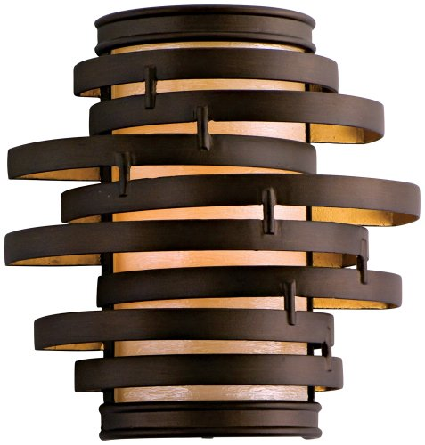 - Corbett 113-11, Vertigo Wall Sconce Lighting, 1 Light, 13 Total Watts, Bronze/Gold Leaf