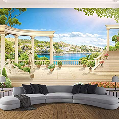 amazon com pbldb custom 3d mural wallpaper european style romeimage unavailable image not available for color pbldb custom 3d mural wallpaper european