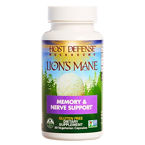Host Defense - Lion's Mane Mushroom Capsules, Natural Support for Mental Clarity, Focus, Memory, Cerebral and Nervous System Health, Non-GMO, Vegan, Organic, 60 Count (Best Self Defence System)