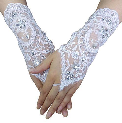 選挙類推伝染性のハンドドリルレース手袋UV保護指なし手袋駆動ウェディングプロムパーティー