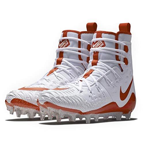 Nike Men's Force Savage Elite TD Football Cleat (9, White/Team Orange/Team Orange)