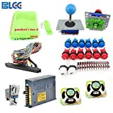 BLEE Arcade Games Kit with 645 in 1 Pandora's Box 4 HDMI Output Games Board Arcade Joystick Push Button Microswitch and Coin Acceptor Jamma Harness