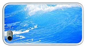 Hipster fashion iPhone 4 cover Sea Waves TPU White for Apple iPhone 4/4S