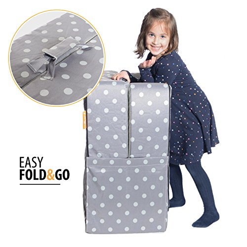 detailed look b38f9 5b1b1 Milliard Portable Toddler Bumper Bed   Folds for Travel