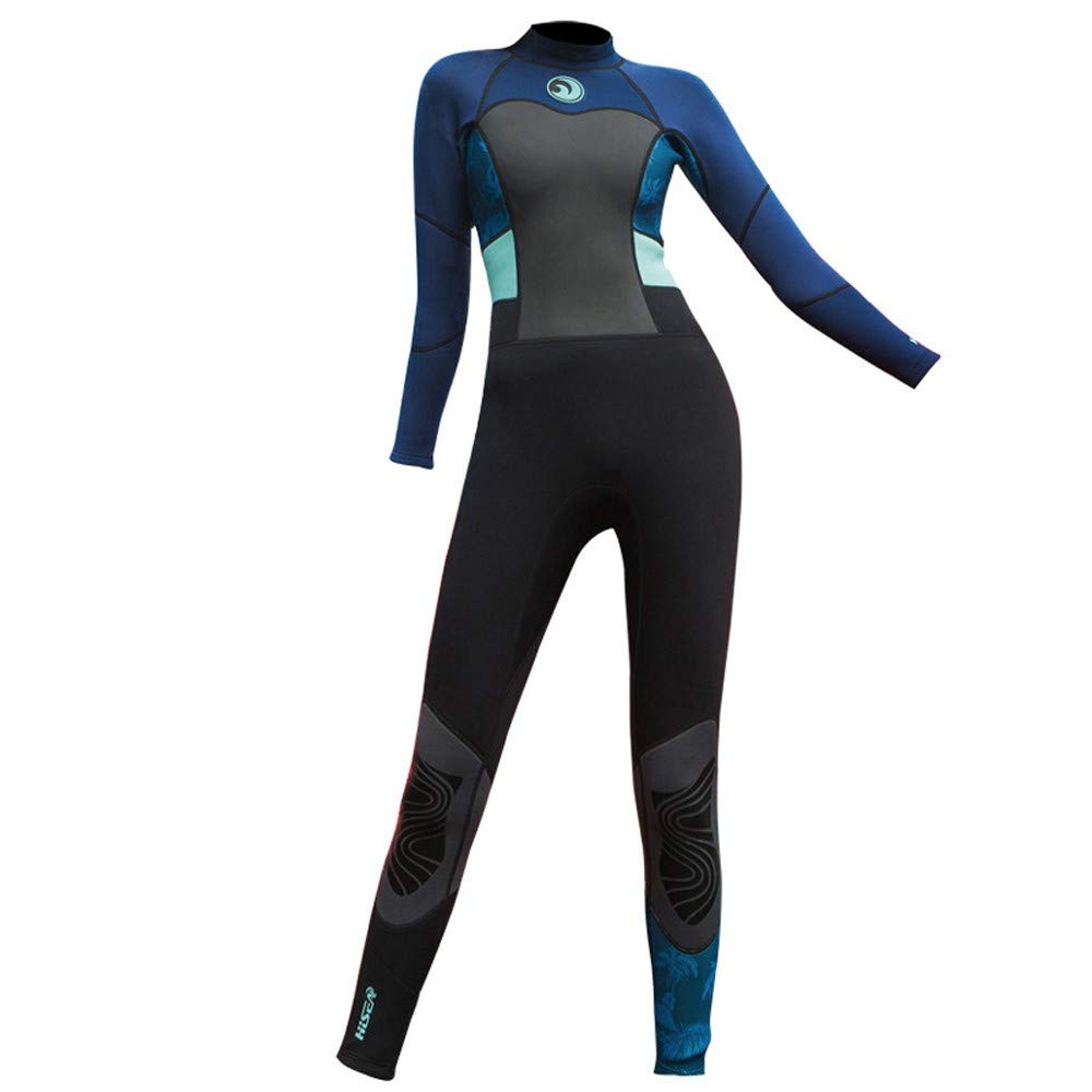 MILIMIEYIK Women's 1.5mm Neoprene Wetsuits Jacket Long Sleeve Wetsuit Top Diving Spearfishing Suit Swimwear Black