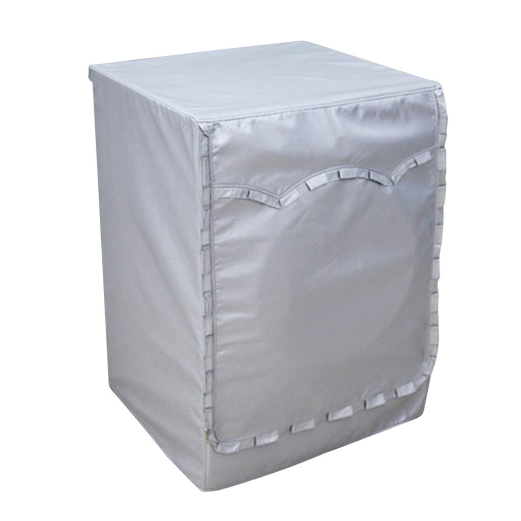 D DOLITY Silver Coating Sunproof Waterproof Front Loading Washer Cover Washing Machine Cover Protect Screen - Style C_S