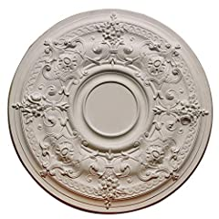 The ceiling medallions are widely applied to decor ceiling light fixture, ceiling fan, or wall accents. Our ceiling medallions are molded after historical flower and leaf pattern design. Our designers hand carve the original piece which is de...